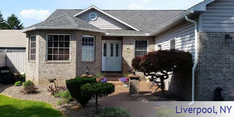 Max-Flow Seamles Gutters & Windows new gutters installed in Liverpool, NY