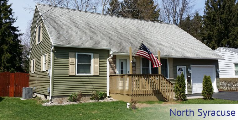 Max-Flow Seamles Gutters & Windows new gutters installed in North Syracuse