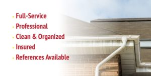Max-Flow Seamles Gutters & Windows Full Service, Professional, Clean & Organized, Insured, References Available